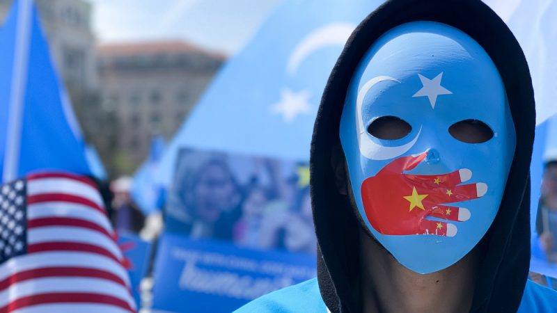 Hundreds protest outside Chinese consulate in Adelaide against rights abuse in Xinjiang